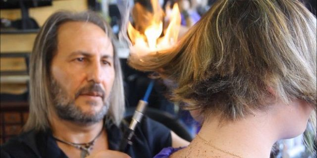 Styling your hair with Fire